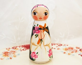 St Rose of Lima Catholic Saint Doll Toy - Made to Order