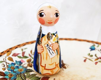Saint Beatrice da Silva Doll - Catholic Saint Doll - Wooden Peg Toy - Made to Order