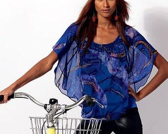 McCalls Dress Pattern M6704 - Misses' Bat-Wing Top or Dress - SZ Xsm/Sml/Med