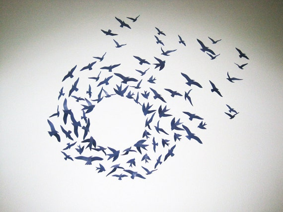 75 3D Birds Wall Decor Art Nursery Boys Room by SimplyChicLily