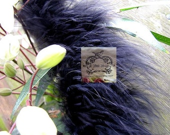 Marabou Boa Feathers Black