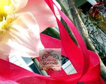 Rayon Seam Binding Ribbon Summer Rose