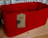 Fits LV Neverfull Gm / Ready to ship / Purse insert ORGANIZER Shaper / 14.5 x 7 x 7H / Sturdy & Durable / Red / With stiff wipe-clean bottom