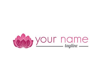 Photography Logo & Watermark - Pre-made for Photographer - Lotus Flower