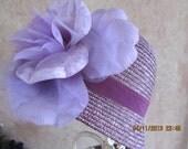 Lavender straw cloche - Women's cloche - Derby cloche - Tea Party Hat - Garden Party Hat