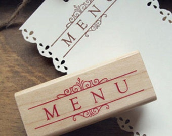Menu Stamp (2.4 x 1in)