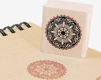Snow Flower Doily Stamp (1.2 x 1.2in)