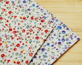 Vintage Flower Reform Fabric Sticker - Violet (A4)