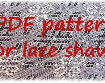 Lace shawl knitting pattern in PDF file, Pattern of Joy, pattern for Haapsalu shawl knitting