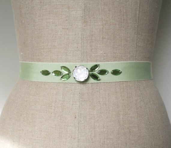 Mint Green Sash, Bridesmaid Sash, Wedding Belt