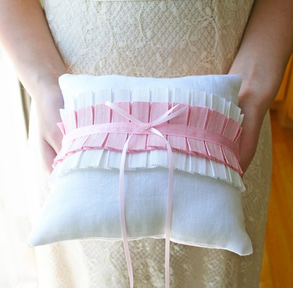 Pink Ring Pillow, Ring Bearer Pillow, Ring Bearer