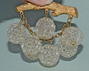 Bubble Brooch Mid Century Statement Jewelry
