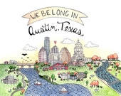 We Belong in Austin Texas Print 5x7