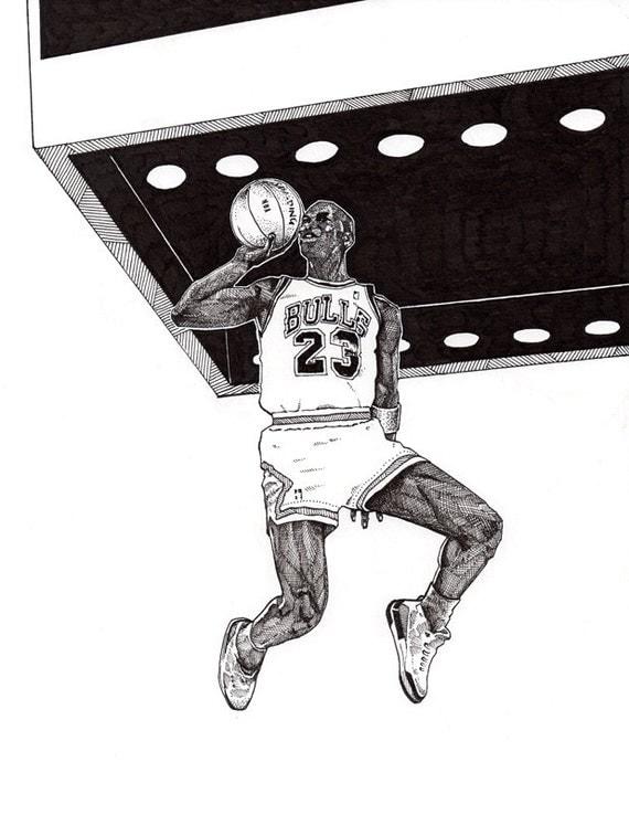 Jordans Drawing Air Jordan 8.5 x 11