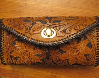 Woman's Floral Clutch Purse
