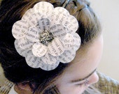 Bookwormed Daisy Paper Mache Headband