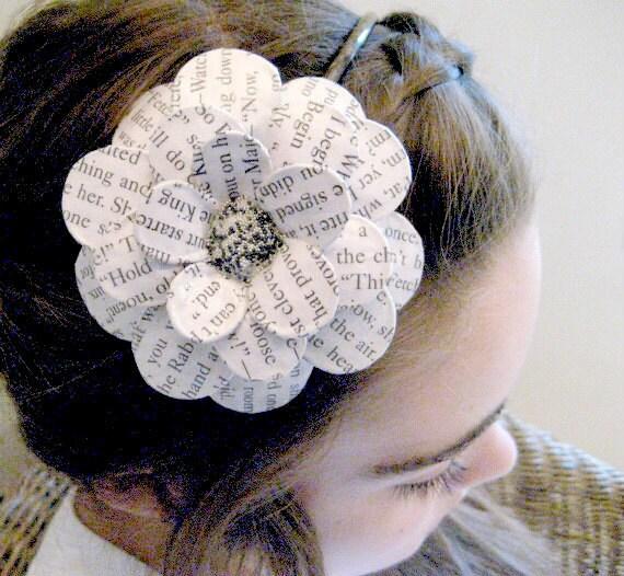 Bookwormed Daisy Paper Mache Headband