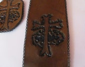 Leather Cross Crown of Thorns Bookmark