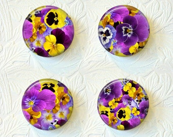 Magnet Set  Pansies Buy 3 Get 1 Free  252M