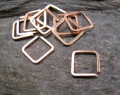 Small Square Hoop.  Conch Earring. Cartilage hoop. Septum Hoop. Square Single Earring. Helix Piercing. Tragus.  No.00E300