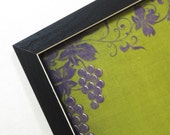 Magnetic Board-Wall Decor-Magnet Board-Dry Erase Board-Magnetic Memo Board-Framed-Wine Design-includes magnets