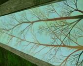 Brown trees on table runner