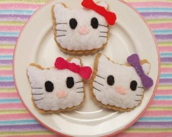 Felt Food Kitty Cookie