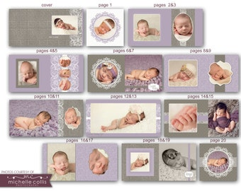 Baby Album template for Photographers  - Aubrie 0717 FA