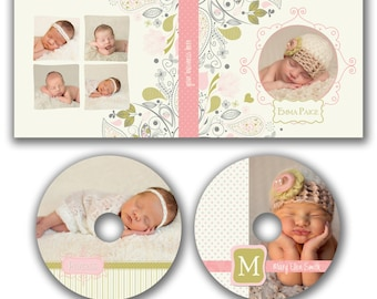 INSTANT DOWNLOAD -  Dvd Label and Dvd Case Photoshop template - W0783
