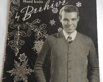 For Vintage Knitting Enthusiasts, 1947 Patons Knitting Patterns for Men, Knitting, Patterns for Men, or Pages to Frame