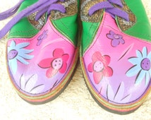 Hand Painted Leather Shoes Soletech