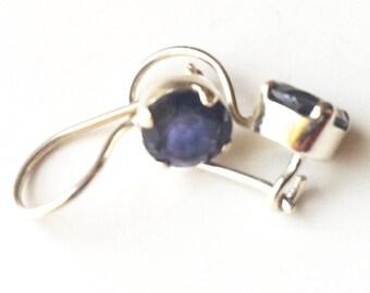 Amethyst Earrings,Purple Amethyst , Silver earrings,Buddha Earrings, rare earrings by Taneesi Jewelry