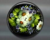 floral fridge magnet, russian trays flower decor, kitchen decor, large magnet, oversize magnet  MA-328
