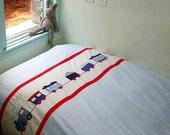 Applique bedding set for kids Boys Room Birthday Gift Custom Made  Bedlinen twin-duvet cover w/ pillow case - Train