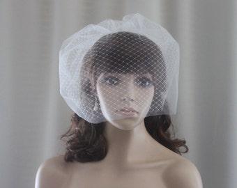 Double Birdcage Veil, Birdcage Veil, Bridal Veil, Short Bridal Veil-Style no.133
