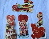 VinTaGe ValenTiNes day cards vibrant and perfect for collecting, collage or giving
