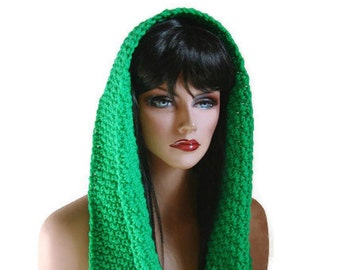Emerald Infinity, Womens Scarf, Green Cowl, Emerald Scarf, Neckwarmer, Men, Wool Scarf, Neckwarmer, Winter Accessories, Winter Fashion