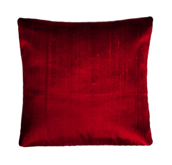 Items similar to Dark-red Throw Pillow, Standard size 16x16, New on Etsy