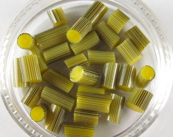 Banana Cream murrini, lampwork supplies, CoE 104 glass, 15 pcs