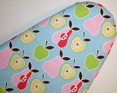Reserved for Connie  2 Oversized Ironing Board Covers in  Alexander Henry  fabric - Apples and Pears on Blue background