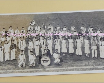 SEARS SUPERTONE BAND Black and White Photo, Toledo, Ohio 1930s, Vintage Old Photograph
