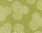 RESERVED Listing for Keri - Stitch Circle in Olive -2 yards - Michael Miller Fabric