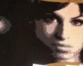 Amy Winehouse Crochet Portrait Blanket ready to ship