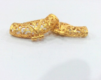 2 Pcs Gold Plated Brass   Connector ,Pendant  G158