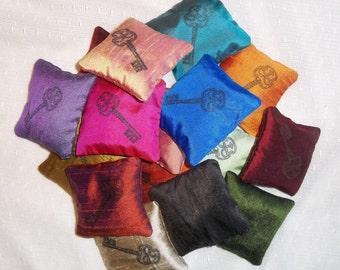 Silk Lavender Sachet- Key Design