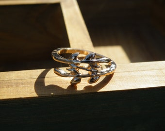 50% off this item, enter LOVE99 at checkout, Gold Leaf Branch Ring, Christmas Gift, Branch Ring, Simple Ring