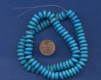 """16"""" Strand of 10mm Rondell Beads: Turquoise Howlite"""