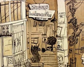 Bauhaus Coffee Shop- Matte Photo Print