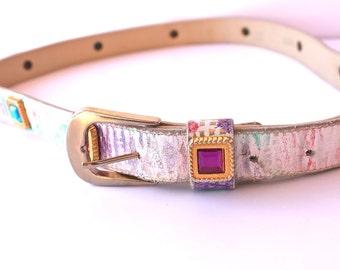 Jeweled Wonder 1990s Vintage Colorful Belt