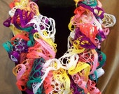 Multicolor Lightweight Scarf Women's Scarf Hand Crocheted Scarf Orange Yellow Purple Green Pink White Gift for Mom